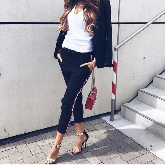 Pants Side Stripe Black Jogger Jetset Outfit Poshmark